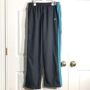 NWT Adidas Women's Blue Stripe Zippered Wind Pants
